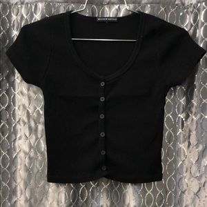 NWOT Brandy Melville Button Down Crop Top
